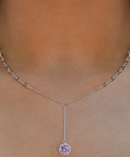 cdd56eac9 love this product Purple & Sterling Silver Y Pendant Necklace With Swarovski®  Crystals
