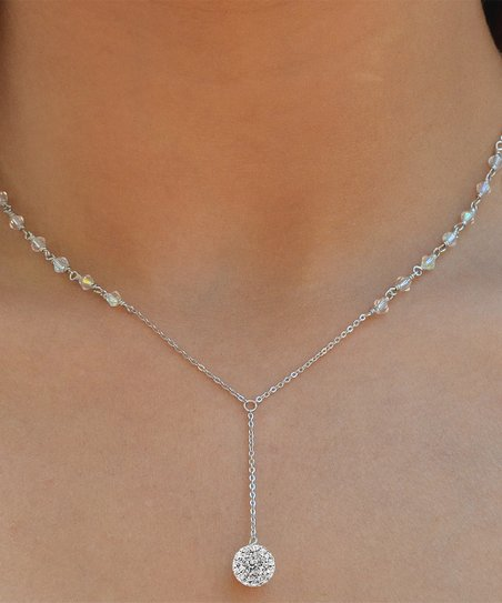 141773752 love this product Sterling Silver Y Pendant Necklace With Swarovski®  Crystals