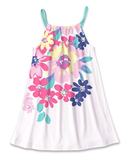 4924d5fb5828 Sunshine Swing White & Pink Floral Tank Sundress - Toddler & Girls ...