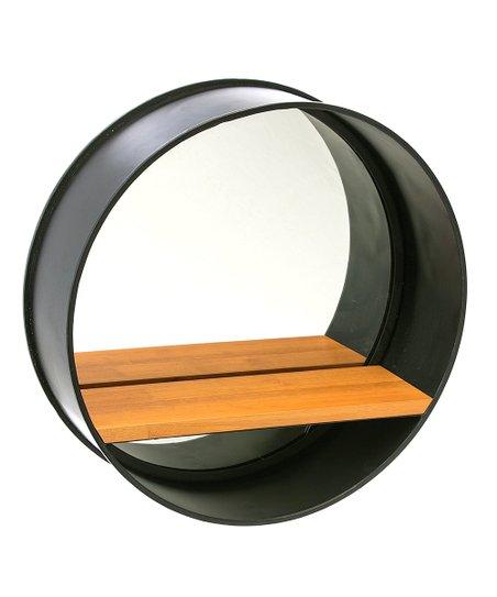 love this product Black Wood-Shelf Metal Wall Mirror f266a8fe9a