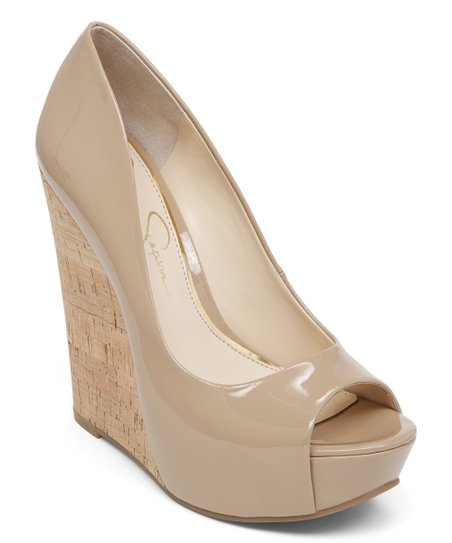 c977f701132 Jessica Simpson Collection Patent Nude Bethani Wedge - Women