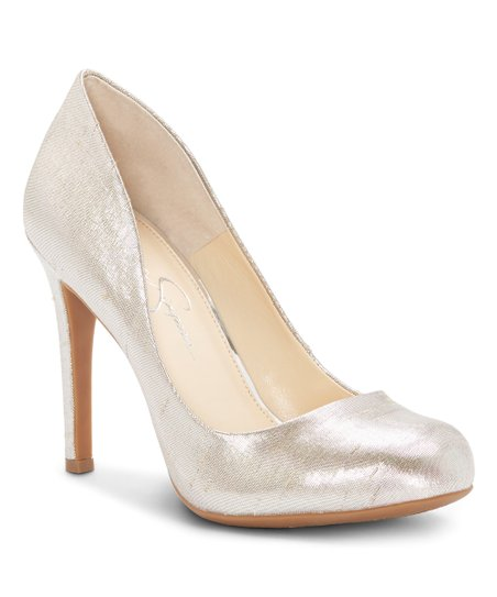 c809a677884 Jessica Simpson Collection Shimmer Silver Calie Pump - Women