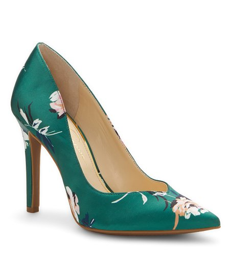 af8433203882 Jessica Simpson Collection Emerald Floral Cylvie Satin Pump - Women ...