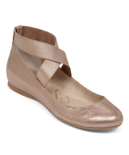 8dca48362 Jessica Simpson Collection Gold Mandayss Flat - Women | Zulily