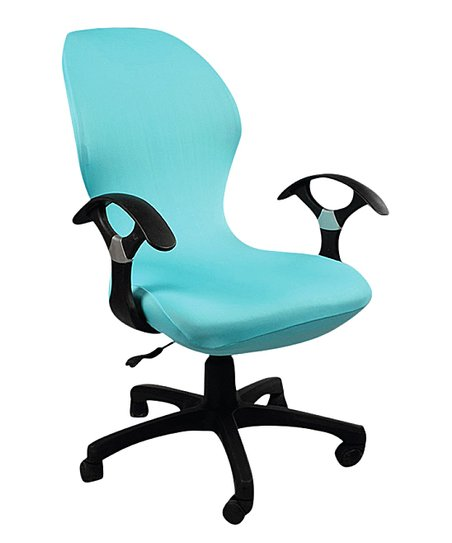 Wondrous Lexi Park Light Blue Maddy Office Chair Slip Cover Gmtry Best Dining Table And Chair Ideas Images Gmtryco