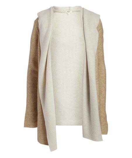 0eb0bdbbfbd love this product Oatmeal   Natural Shawl-Collar Hooded Cardigan - Women