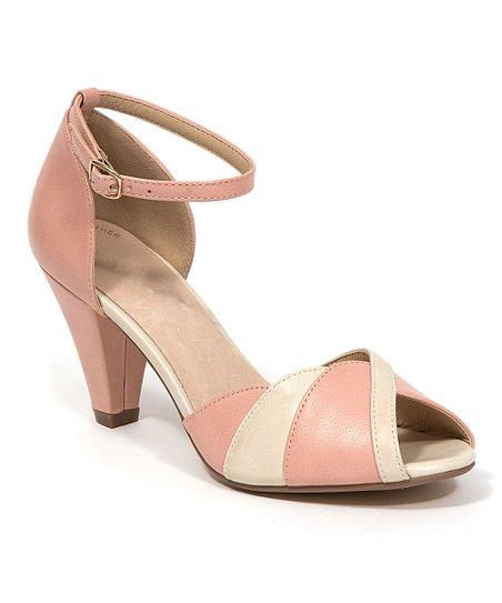 84934360e5b0 love this product Pink Twist Vicky Kitten Heel Sandal - Women