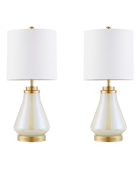 Main Green White Peak Table Lamp Set Of Two Zulily