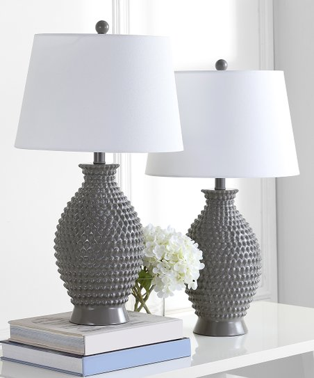 Safavieh Gray Rosten Table Lamp Set Of Two Zulily