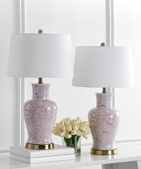 Safavieh Pink White Calli Table Lamp Set Of Two Zulily