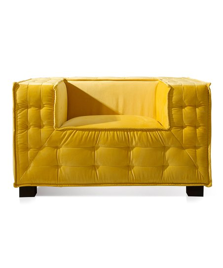 Astounding Iconic Home Yellow Garrett Velvet Club Chair Zulily Onthecornerstone Fun Painted Chair Ideas Images Onthecornerstoneorg