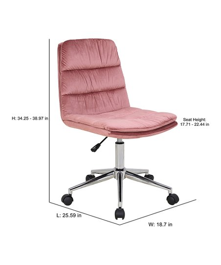 Porthos Home Pink Tufted Adjustable Office Chair Zulily