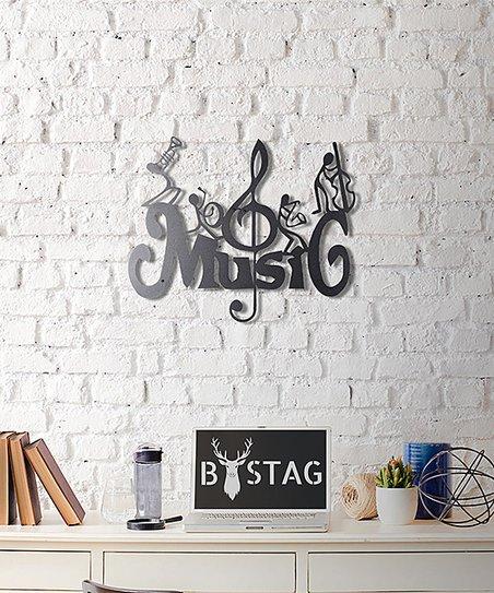 Wallity Bronzetone Music Metal Wall Art