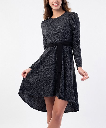 4f4d8787980 love this product Black Wool-Blend Tie-Waist Sweater Dress - Women