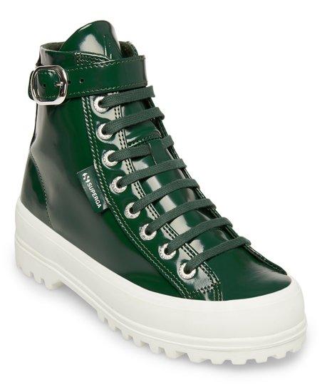 d365b76deef5 Superga Forest Green Patent Leather Hi-Top Sneaker - Women