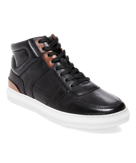 2ba940c03d5 Steve Madden Black Sharper Leather Hi-Top Sneaker - Men