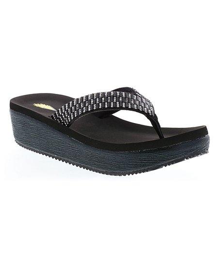 9eab3ce689a Volatile Black Sequin-Accent Boldone Platform Sandal - Women