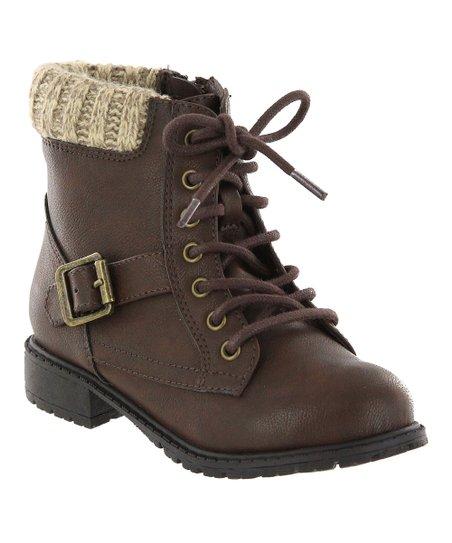 Brown Combat Boots Kids