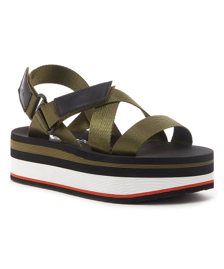 41f228d23e2 love this product Olive   Black Stripe Jarvis Sandal - Women
