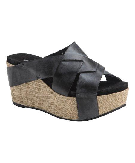 850309aa5bd Antelope Black Cross-Strap Platform Sandal - Women