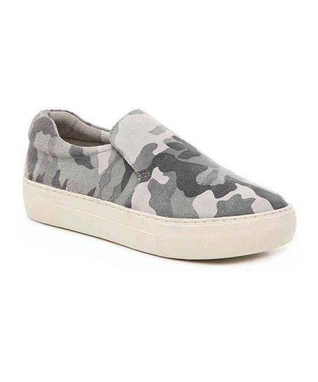 J/Slides Gray Camo Acer Leather Slip-On