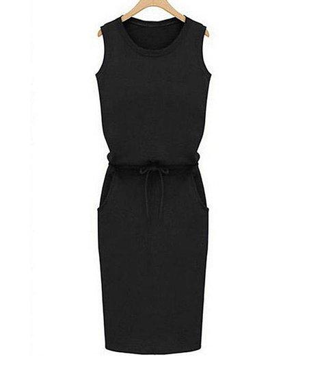Yokodea Black Sleeveless Sheath Dress Women Zulily