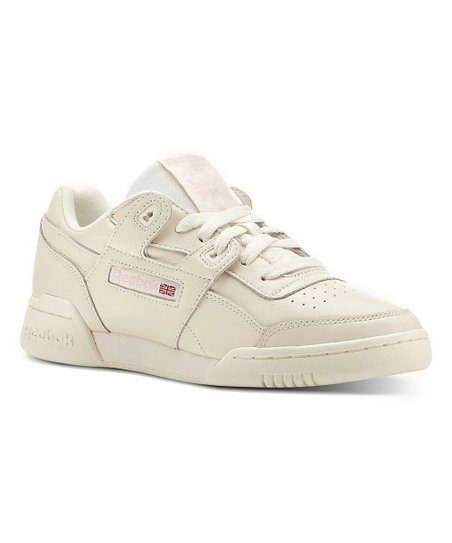 love this product Vintage White   Practical Pink Workout Lo Plus Leather  Sneaker - Women 4deb476e9