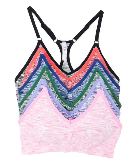 8364b9856931a love this product Pink   Gray Seamless Sports Bra Set