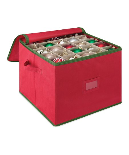 Christmas Ornament Storage.Whitmor Red Christmas Ornament Storage Box