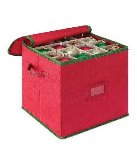 Whitmor Red Christmas Ornament Storage Box