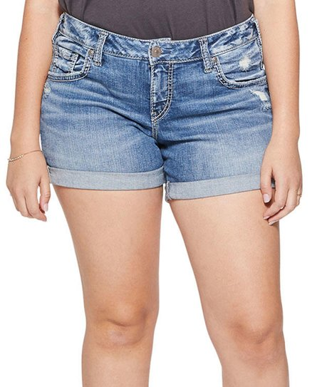 5ed11cdb05a Silver Jeans Co. Indigo Sam Denim Shorts - Plus