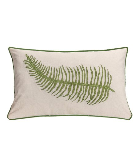 Cream Embroidered Fern Lumbar Pillow Best Price And Reviews Zulily
