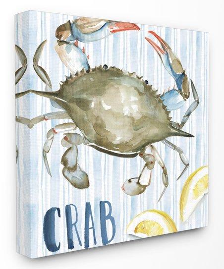 Stupell Industries New England Summer Crab Wall Art Zulily