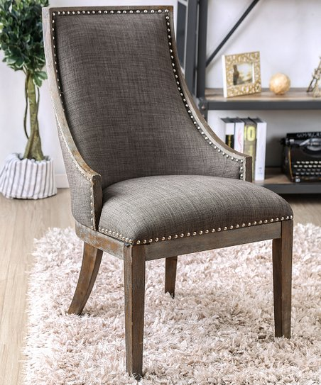 Outstanding Furniture Of America Gray Upholstered High Back Accent Chair Onthecornerstone Fun Painted Chair Ideas Images Onthecornerstoneorg