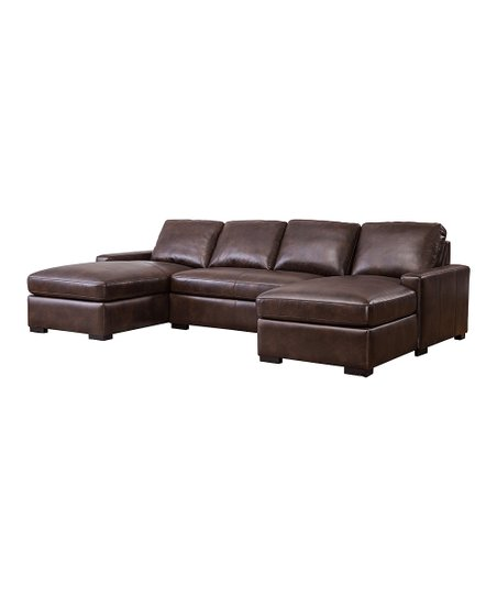 Fantastic Brown Dual Chaise Leather Sectional Sofa Andrewgaddart Wooden Chair Designs For Living Room Andrewgaddartcom