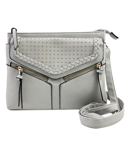 8044ccc1ea76 Violet Ray Light Gray Micro Stud Leanna Crossbody Bag