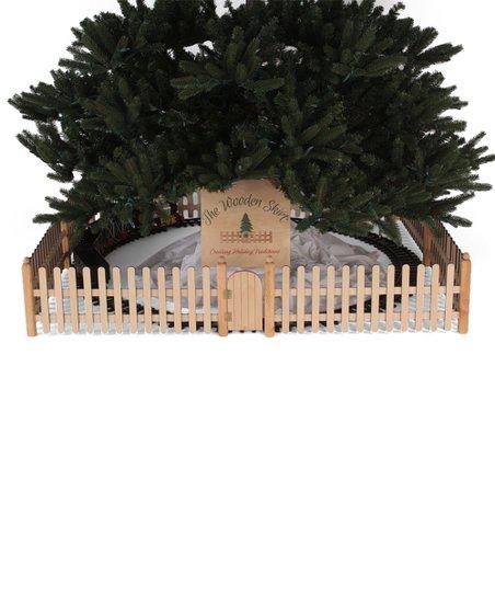 The Wooden Skirt Natural Pine Wooden Fence Christmas Tree Skirt