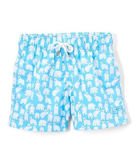 fa6921ab43 Azul Swimwear Turquoise Polar Bear Swim Shorts - Toddler & Boys | Zulily