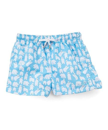 636fa7d4ee Azul Swimwear Turquoise Polar Bear Swim Shorts - Infant | Zulily