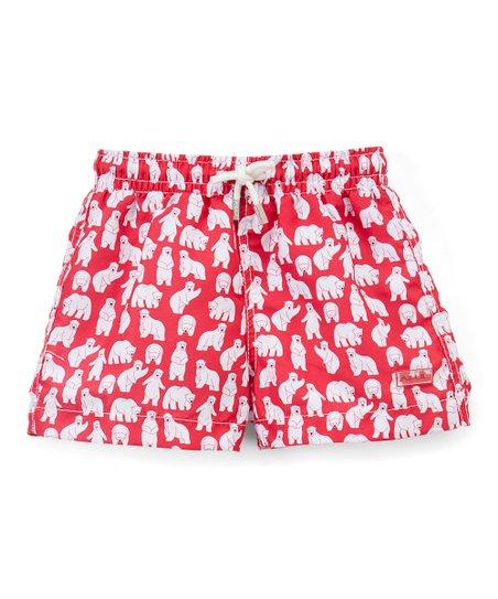 428fe1880a Azul Swimwear Red Polar Bear Swim Shorts - Infant | Zulily