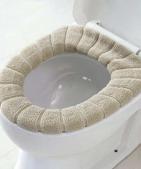 Above Edge Beige Toilet Seat Cover