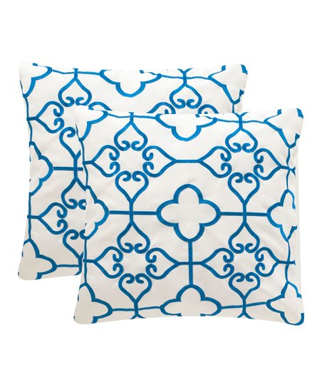 Safavieh Royal Blue Nadia Pillow Indoor Outdoor Pillow Set Of Two