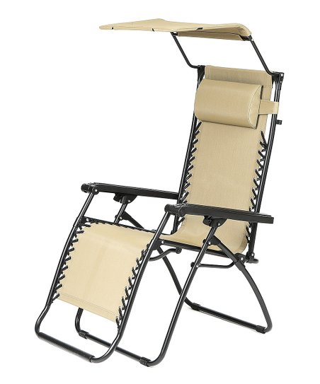 Love This Product Tan Canopy Zero Gravity Chair