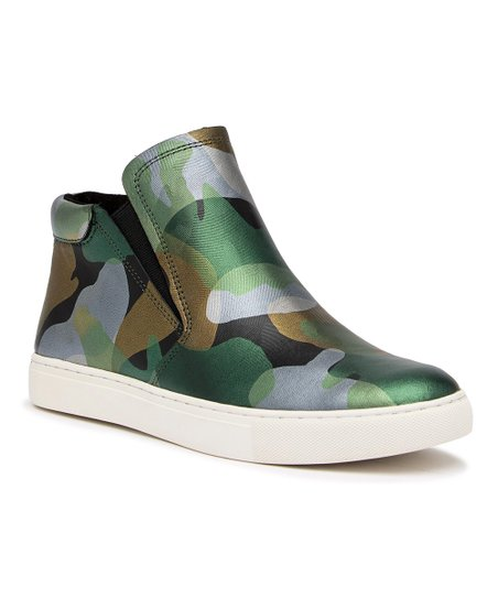 2d18817e91664 Kenneth Cole New York Green Camouflage Metallic Kalvin Leather High ...