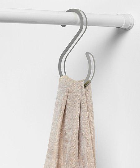 Gray Clear Cora Closet Rod Hook