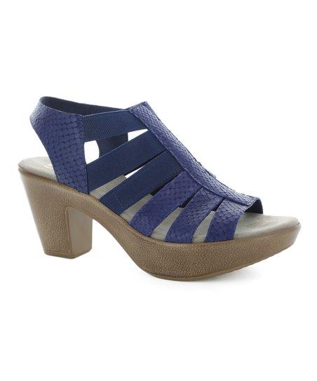 13a4343d2d Munro Shoes Blue Cookie Snake Print Sandal - Women | Zulily