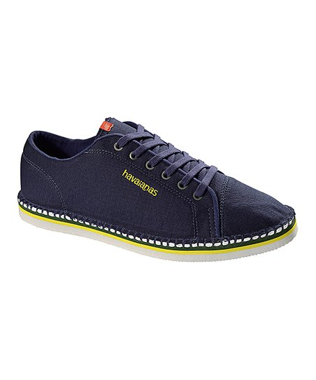 d98f7fe61 Havaianas Navy Blue & Yellow Layers II Sneaker - Men | Zulily