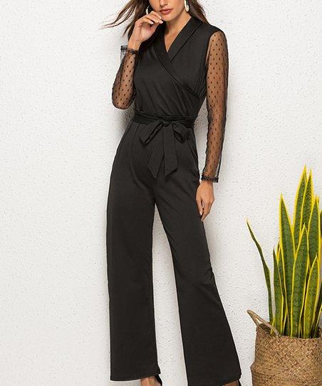 6e6c4e662d03 love this product Black V-Neck Jumpsuit - Women   Plus