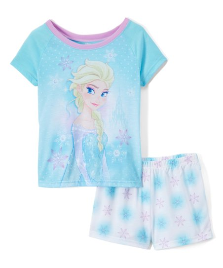 6e6a9aaac8575 love this product Frozen Ice Blue & Lilac Elsa Snowflake Pajama Set - Girls