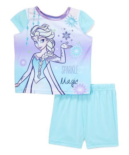 61a9a62eab4bd love this product Frozen Ice Blue Elsa Sparkle Pajama Set - Toddler